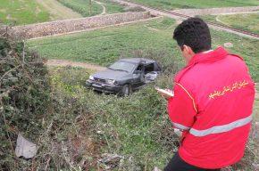 واژگونی خودروی پراید