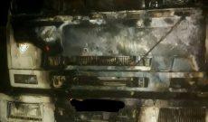 آتش سوزی خودروی کامیون و انبار