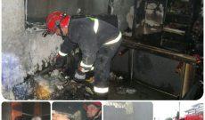 آتش سوزی منزل مسکونی واقع در خیابان سلمان فارسی
