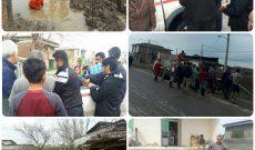 کمک رسانی و همکاری سازمان اتش نشانی بهشهر به سیل زدگان شهر آق قلا