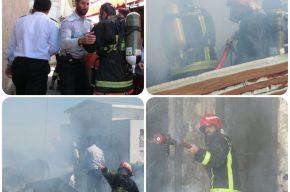 آتش سوزی منزل مسکونی واقع در خیابان استقلال کوچه شهید قلندری