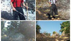 آتش سوزی در جنگل عباس اباد بهشهر