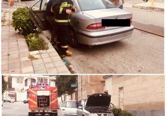 حادثه نشتی گاز خودروی سمند