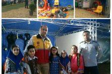 حضور آتش نشانی بهشهر در دومین جشنواره تولیدات بومی در روستای گرجی محله بهشهر