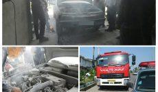 آتش سوزی خودروی پژو ۴۰۵
