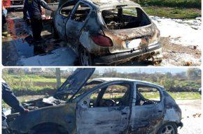 آتش سوزی خودروی ۲۰۶