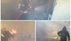آتش سوزی ضایعات در زیرزمین