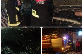 آتش سوزی خودروی پاترول