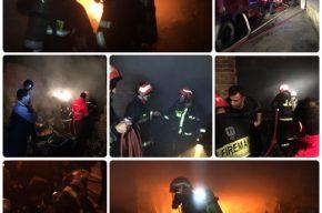 آتش سوزی گسترده منزل مسکونی