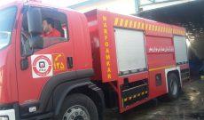 آتش سوزی کارخانه سبدسازی گهرباران ساری