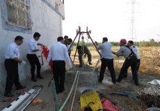 امداد و نجات درون چاه ۲۰ متری