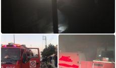 آتش سوزی مغازه تجاری