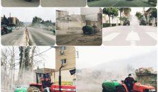 یکشنبه ۱۸ اسفند ضدعفونی سطح شهر