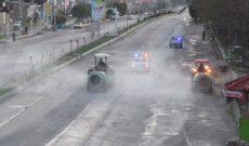 ادامه اجرای ضدعفونی معابر اصلی شهر