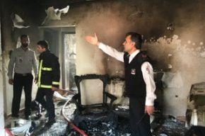 انفجار گسترده و آتش سوزی در منزل مسکونی