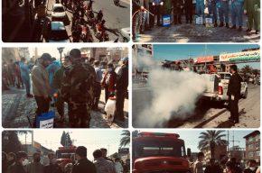 رزمایش سراسری قرارگاه پدافند زیستی سپاه ناحیه بهشهر