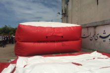 رونمایی از تشک نجات بادی سازمان آتش نشانی بهشهر