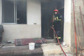 آتش سوزی منزل مسکونی