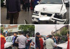 تصادف سه خودرو همزمان