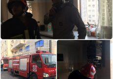 آتش سوزی آبگرمکن در منزل مسکونی