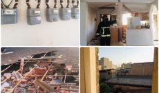 انفجار شدید گاز شهری در منزل مسکونی