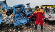 تصادف ۶ دستگاه خودرو و مصدومیت ۸ تن