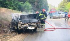 آتش سوزی خودروی پیکان