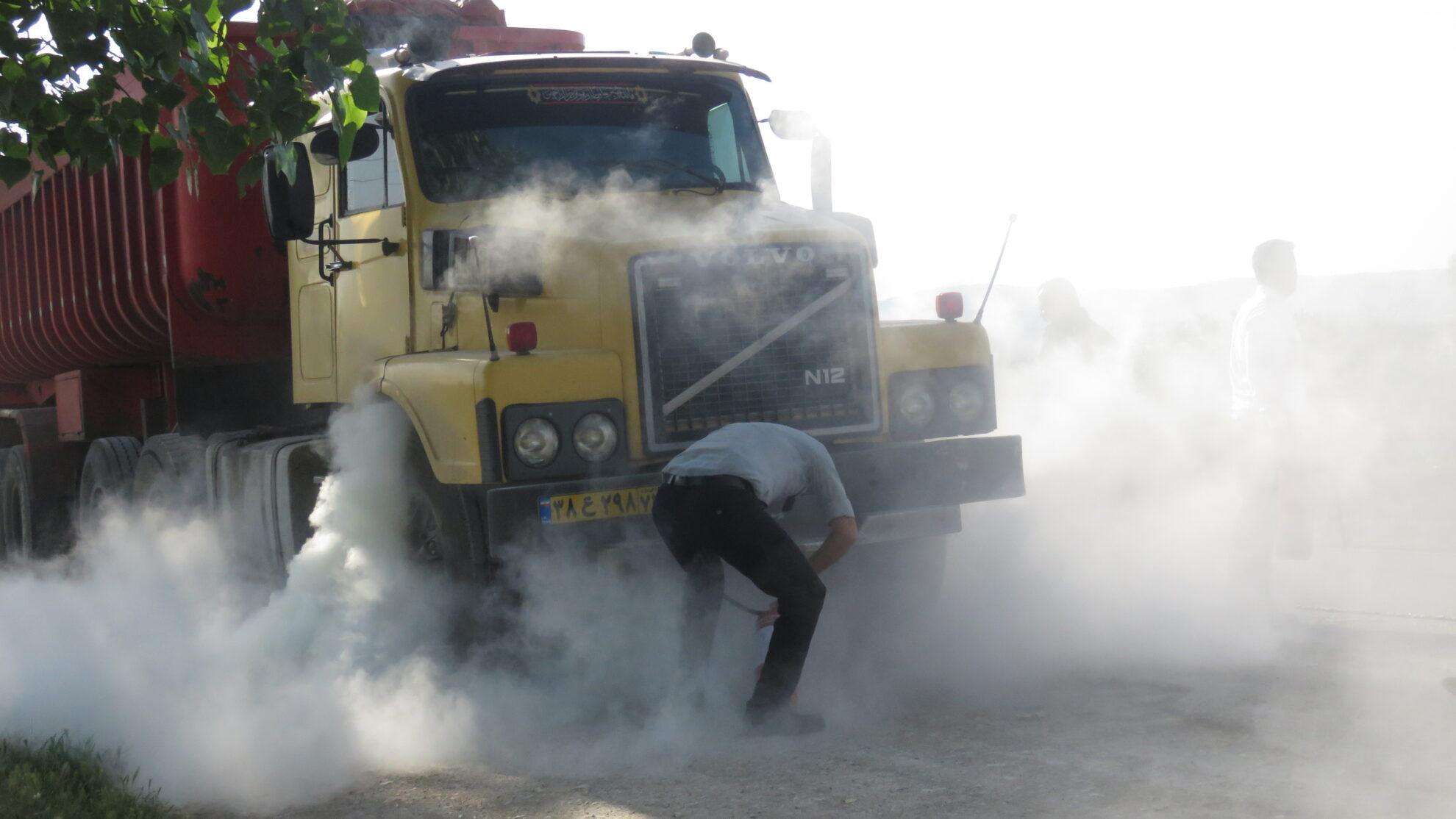 آتش سوزی خودروی سنگین