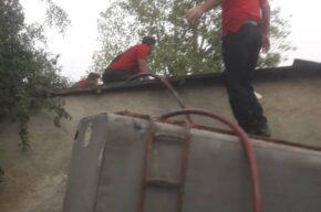 آتش سوزی منزل مسکونی در روستای سارو