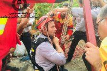 امداد و نجات چاه در روستای گرجی محله